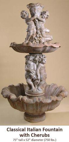 Classical Italian Fountain with Cherubs