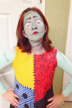 How to make a sally skellington costume sally wig and homemade nightmare before christmas sally costume diy halloween all things belle solutioingenieria Gallery