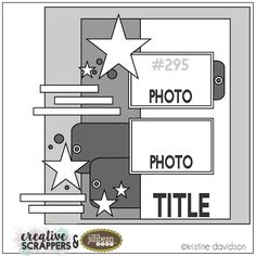 Jillibean Soup Bean Talk: Free For All Friday - Jillibean Soup + Creative Scrappers Sketch Challenge + Giveaway! Notebook Sketches, Scrapbook Layout Sketches, Scrapbook Templates, Card Sketches, Scrapbooking Layouts, Scrapbook Pages, Digital Scrapbooking, Sketch Inspiration, Sketch Ideas