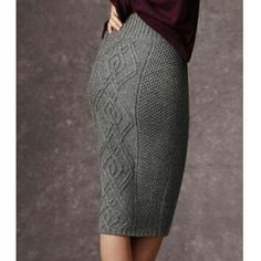 Cabled skirt