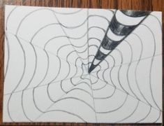 How to Draw an Op Art Bullseye - Art by Ro Optical Illusions Drawings, Illusion Drawings, Illusion Art, Drawing Practice, Line Drawing, White Highlights, Vanishing Point, Artist Trading Cards, Step By Step Drawing