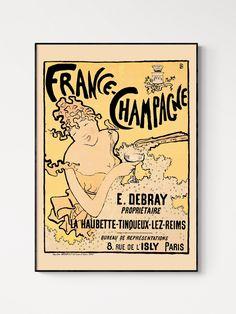 Pierre Bonnard Champagne Poster, Vintage Advertisement - A2 (16.5 x 23.4 ins)