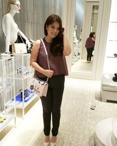 Amongst privileged guests of #Dior #Singapore, Brand Director @tjandrafanny is attending the re-opening of ION Orchard Boutique in #newarrivals : Ivy Tweed Top || www.jolie-clothing.com
