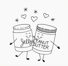 Peanut butter and jelly - free embroidery pattern