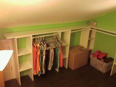 process of making an attic closet <3