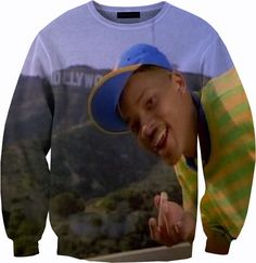 Will Smith Fresh Prince Of Bel Air Sweater Crew by YeahWhateverz, $59.87