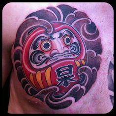 Daruma Dream Tattoo Flash