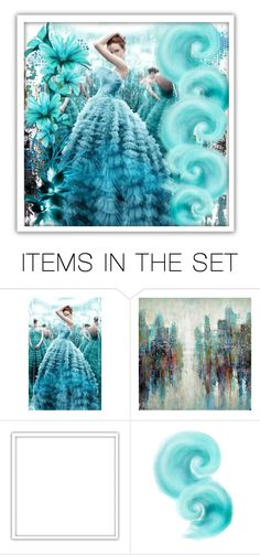 """A Fantasy In Turquoise!"" by shaheenk ❤ liked on Polyvore featuring art, expression, turquoise and artset"