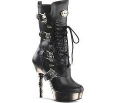 Demonia Muerto 1026 gothic bootie