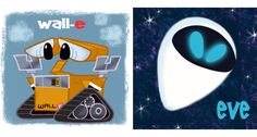 David Gilson - Wall-e and Eve Disney Artwork, Disney Fan Art, Disney Love, Disney Stuff, Disney And Dreamworks, Disney Pixar, Walt Disney, Cool Cartoons, Disney Cartoons