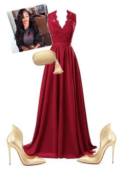 """White House Dinner!!!!"" by cogic-fashion ❤ liked on Polyvore featuring R&J, Christian Louboutin and KOTUR"