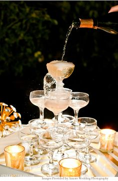 Champagne fountain — how decadent!