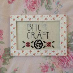 Bitch Craft Framed Cross Stitch American Horror Story Inspired