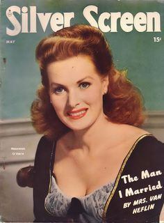 "Maureen O'Hara on the cover of ""Silver Screen"" magazine, USA, May 1948."