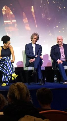 """I can play the guitar a little bit in real life… But I seem to be able to play a lot better on telly!"""" Peter Capaldi at DW launch."""