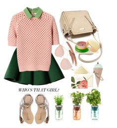"""""""Mini skirts"""" by grinevagh ❤ liked on Polyvore featuring Chicnova Fashion, Structured Green, Carven, Kate Spade, NYX, Tata Harper, Betsey Johnson and L*Space"""