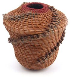 Pine Needle Coiled Basket