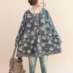 Gedruckt Splice Baumwolllose verdicken Kleid von cotton&linen auf DaWanda.com