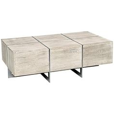 whitewash and matte nickel finish make a wonderfully stylish pair in this block shape mango wood coffee table casual contemporary rectangular coffee table bargu mango wood side table