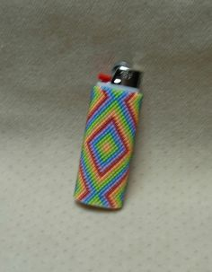 Peyote Stitched Classic Bic Lighter Cover // by BlackstreaksBeads