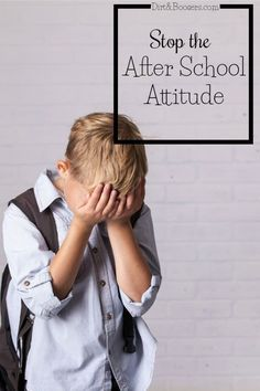 My child does great at school then comes home and gives me attitude, is extrememly emotional, and just falls apart. I love these parenting tips that help stop the after school attitude