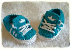 Crochet baby booties style adidas-newborn shoes adidas by Danylab