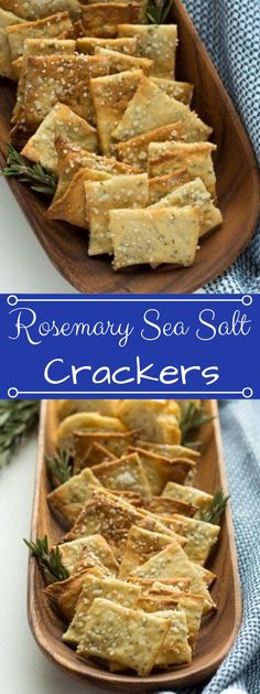 Rosemary Sea Salt Crackers And a Cheese Plate These easy homemade crackers are the perfect addition to your cheese plate, or just to have on hand for snacking. Also, how to make a killer cheeseplate with ingredients from the regular grocery store! Whoopie Pies, Junk Food, Diet Recipes, Vegetarian Recipes, Easy Recipes, Copycat Recipes, Salt Crackers, Homemade Crackers, Snacks Homemade