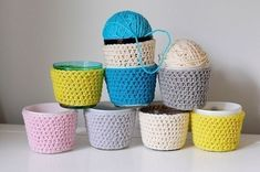 Crocheted Candle Cozies