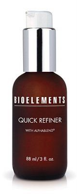 Bioelements Quick Refiner by Bioelements. $29.15. Ideal for those with any skin type who want to smooth away fine lines, reduce blemishes, and improve. Bioelements Quick Refiner 3 oz Reveal the real you by uncovering smoother, softer skin. Put your skin to work with Bioelements Quick Refiner, a gel exfoliator loaded with Alpha and Beta Hydroxy Acids to sweep away dead skin cells, unclog the pores, and reduce fine lines. You'll see visible results after just on...