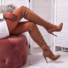 * Goddess Heels and Boots World* Thigh High Boots Heels, Sexy High Heels, Heeled Boots, Bling Shoes, Long Boots, Sexy Boots, Dress With Boots, Girls Jeans, Leather Boots