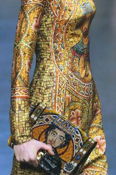 WONDERFUL BYZANTINE SICILIAN MOSAICS INTO DOLCE & GABBANA A/W 2013/14 COLLECTION