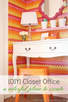 A DARLING closet office {A Thoughtful Place}