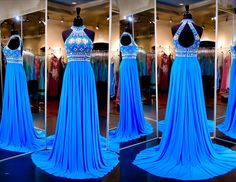 Simple Floor-length Bridesmaid/Prom Dresses Homecoming Dress With beads
