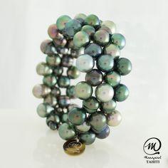 Tahitian Pearls | Beautiful Tahitian Pearl Bracelet VAHINE by Manapearl