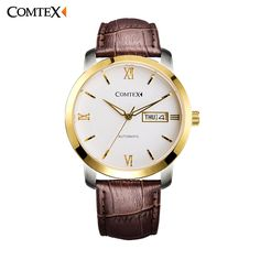 95c23ef4ed2 ... Waterproof Gold Dial with Leather Strap Sapphire Crystal Round Large  Dial S6361G 3-in Mechanical Watches from Watches on Aliexpress.com