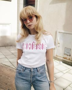 "640 gilla-markeringar, 14 kommentarer - Fanny Ekstrand (@fannyekstrand) på Instagram: ""Rosé before noon tee @chenebags"""