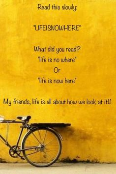 "LIFEISNOWHERE ----What an awesome  way to make the point of what this ""word"" is saying! LOVE IT!"