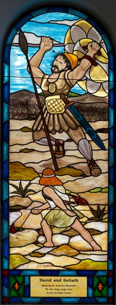 David and Goliath, Stained Glass Studio of Clearwater, FL