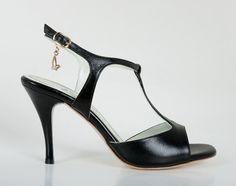 M19 Black - Turquoise Tango Shoes
