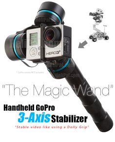 The Magic Wand for your GoPro http://www.helipal.com/handheld-gopro-stabilizer-3-axis.html http://minivideocam.com/product-category/stabilizers/