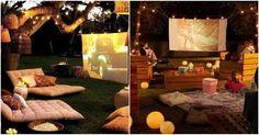 Cine al aire libre en el #jardín