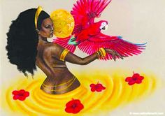 Erzulie - Haitian Goddess who was originally known as the West African Goddess of Love