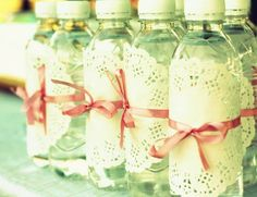 Doily Water Botles by ljloudon