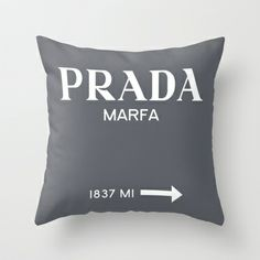 GREY PRADA MARFA  Throw Pillow by Lucrezia Semenzato - $20.00