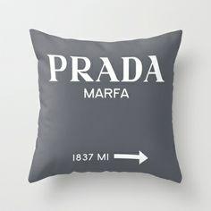 GREY PRADA MARFA  Throw Pillow by Lucrezia Semenzato - $20.00