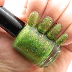 Toxic Nail Polish - Neon Green Glitter