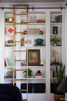 The Most Expensive Looking Ikea Hack Weve Ever Seen Bookshelf Ladder