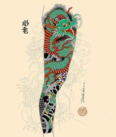 Ryu and peonies sleeve available!! ✌🏻 - For bookings denekahoriden@gmail.com!! - #dragon #ryu #peonies #peony #flowers #sleevetattoo… Full Leg Tattoos, Cool Half Sleeve Tattoos, Full Tattoo, Dragon Sleeve Tattoos, Arm Sleeve Tattoos, Leg Tattoo Men, Tattoo Sleeve Designs, Tattoo Arm, Japanese Dragon Tattoos