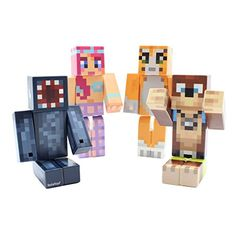 4 Toy Bundle Magic Animal Club by EnderToys  A Plastic Toys Not an official Minecraft Product ** More info could be found at the image url.