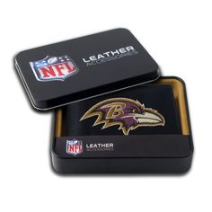 NFL Embroidered Billfold Wallet - Baltimore Ravens  http://allstarsportsfan.com/product/nfl-embroidered-billfold-wallet/?attribute_pa_teamname=baltimore-ravens  Genuine leather billfold embroidered with team logo Genuine cowhide black leather Slots for Your Credit Cards and ID